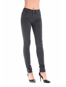 HONTOUTE Butt Lift Skinny Jeans for Women High Waist Casual Solid Stretch Denim Pants