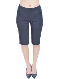 PattyCandy Womens Comfort Fit Pull-On Bermuda Shorts, XS-5XL
