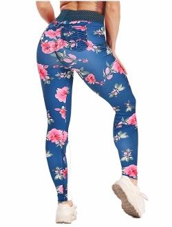 Women Scrunch Butt Yoga Pants High Waist Tummy Control Compression Leggings Workout Sport Fitness Gym Tights