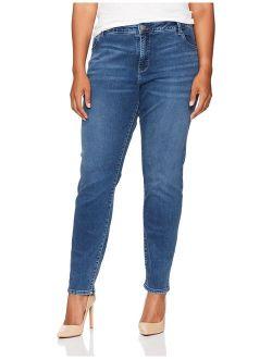 Women's Plus-size Slimming Fit Rebound Skinny Leg Jean