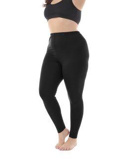 Zerdocean Women's Plus Size Summer Lightweight Breathable Full Length Leggings