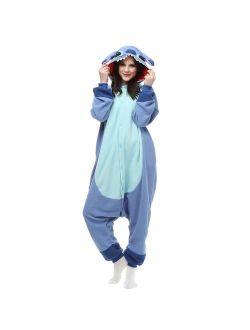 ROYAL WIND Adults Onesie Halloween Costumes Sleeping Wear Pajamas Blue