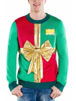 Tipsy Elves Men's Ugly Christmas Sweater - Funny Green Sweater