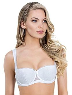 Rosme Womens Balconette Bra With Padded Straps, Collection