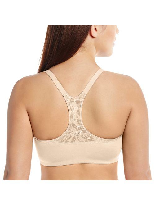 Lilyette by Bali Women's Elegant Lift and Smooth Front-Close Racerback Bra