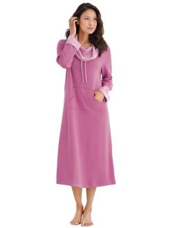 PajamaGram Soft Nightgowns for Women - Long Sleeve Nightgown