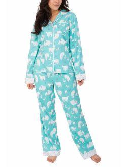 Munki Munki Ladies' Flannel PJ Set