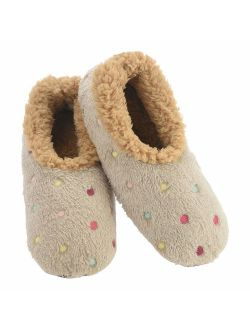 Snoozies Slippers for Women   Lotsa Dots Colorful Cozy Sherpa Slipper Socks   Womens House Slippers   Cozy Slippers for Women   Colorful Womens Fuzzy Slippers