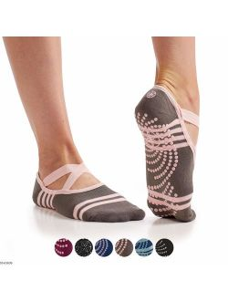 Gaiam Yoga Barre Socks | Non Slip Sticky Toe Grip Accessories for Women & Men | Pure Barre, Hot Yoga, Pilates, Ballet, Dance, Home for Balance & Stability | Available in
