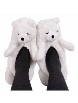Panda Bros Womens Cozy&Warm Animal Slipper Socks with Grippers-House Socks
