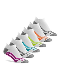 Prince Women's Low Cut Tab Athletic Socks with Cushion for Running, Tennis, and Casual Use (6 Pair Pack)