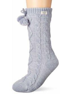 Pom Fleece Lined Crew Sock
