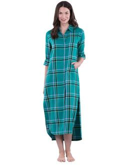 PajamaGram Plaid Nightgowns for Women - Nightgowns for Women