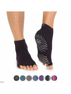 Gaiam Yoga Socks | Toeless Grippy Non Slip Sticky Grip Accessories for Women & Men | Hot Yoga, Pilates, Barre, Ballet, Dance, Home for Balance & Stability | Available in