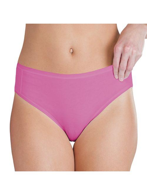 Gildan Women's Cotton Hi Cut Panties, 12 Pairs
