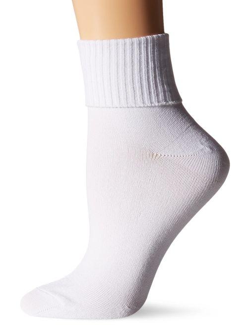 Hanes Women's Comfortsoft Cuff Sock 3 Pack