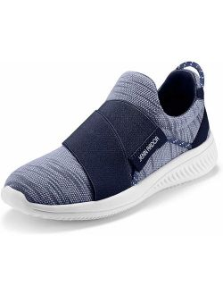 JENN ARDOR Women's Walking Casual Sneakers Lightweight Slip-On Breathable Mesh Outdoor Sports Shoes