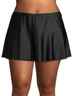 Women's Plus Size Flounce Swim Skirt