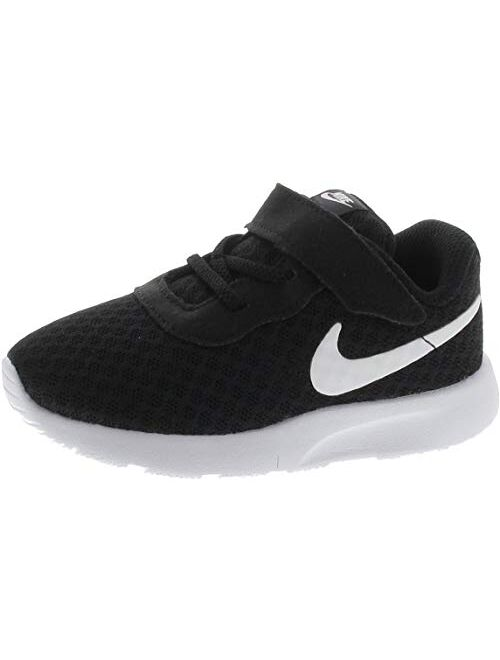 Nike Tanjun Synthetic & Leather Lace Up Running Shoes(Toddler)