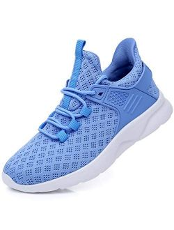 AJOYLA Women's Running Tennis Shoes Breathable Non-Slip Fashion Sneakers Lightweight Gym Sport Slip On Walking Athletic US5.5-10