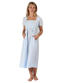 The 1 for U 100% Cotton Short Sleeve Nightgown with Pockets - Lara