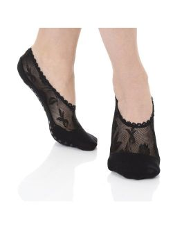 Great Soles Lace Pilates Non Skid Grip Socks for Women,Yoga, Barre