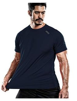 Men's Cool Quick Dry Sun Protection Short Sleeve Rash Guard Swim Sports Tee Shirt Upf 50+