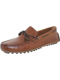 Men's Grant Canoe Camp Moccasin Papaya Ankle-high Leather Loafer - 10m