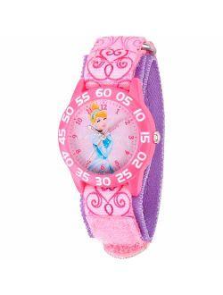 Cinderella Girls' Plastic Watch, Pink Strap