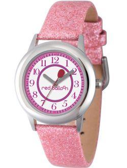 Girls' Stainless Steel Watch, Pink Glitter Strap