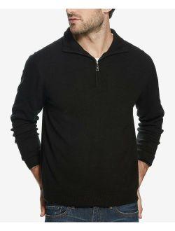 Mens Medium 1/2 Zip Soft Touch Sweater M