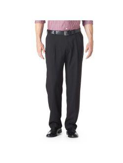 Haggar Men's E-CLO Stria Pleat Front Dress Pant Classic Fit HD00219