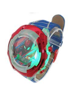 Spiderman Kid's Lcd Watch W/light Up