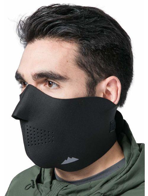 Winter Warmer Fleece Ski Motorcycle Cycling Half Face Mask Cover for Women Men