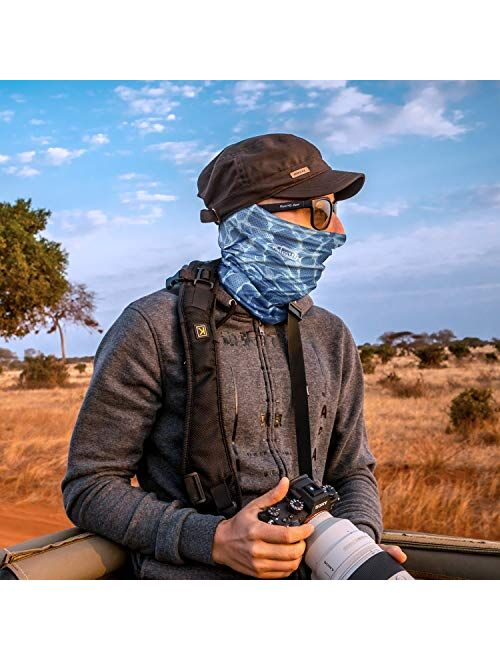 UV Face Mask - Neck Gaiter for Dust & Sun Protection - Face Cover/Scarf for Fishing, Hiking, Cycling & ATV Riding - UPF 30 Breathable Summer Balaclava