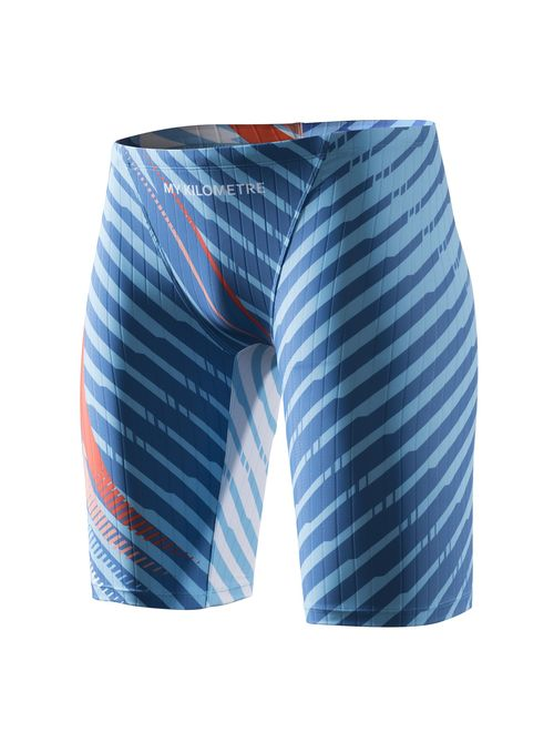 MY KILOMETRE Jammer Swimsuit Mens Solid Swim Jammers Endurance Long Racing  Training Swimsuit | Topofstyle
