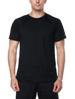 beautyin Men's Quick-Dry Sun Protection Rashguard Short Sleeve Tee Athletic Tops