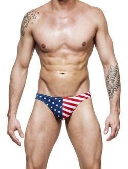 Gary Majdell Sport Men's USA American Flag Freedom Thong Swimsuit