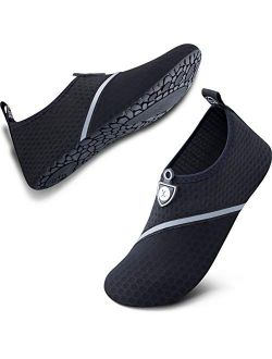 SIMARI Womens and Mens Quick-Dry Aqua Socks Barefoot for Outdoor Beach Swim Sports Yoga Snorkeling Water Shoes SWS002