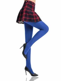 HONENNA Women's Control Top High Elastic Soft Opaque Pantyhose Tights