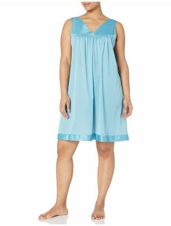 Exquisite Form Women's Plus Size Sleeveless Knee Length Nightgown