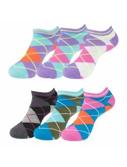 Women's Patterned and Solid Low Cut No Show Ankle Socks, Value Pack of 18, 12 or 6 Pairs, Shoe Size 4 - 10