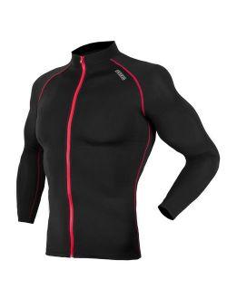 Uv Sun Protection Long Sleeve Top Shirts Skins Tee Rash Guard Compression Base Layer Upf 50+