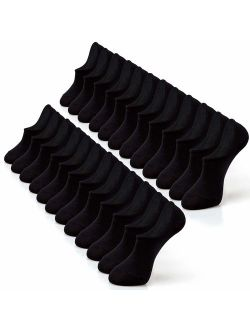 IDEGG No Show Socks For Women and Men 12 Pairs Casual Low Cut Socks Anti-slid Athletic Cotton Socks with Non Slip Grip