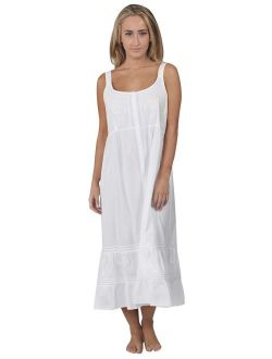 The 1 for U Ruby 100% Cotton Victorian Sleeveless Nightgown 7 Sizes