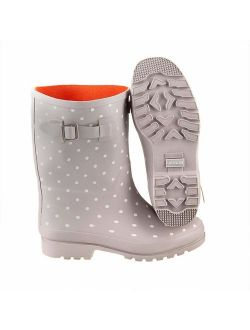 Jileon Mid Calf Rain Boots | Specially Designed for Wide Feet, Ankles & Calves | Half Height Wide Calf Rain Boots for Plus Size Women | 100% Waterproof Wide Calf Rain Boo