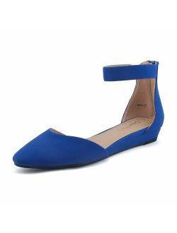 Amiga Women's Low Wedge Flats Shoes