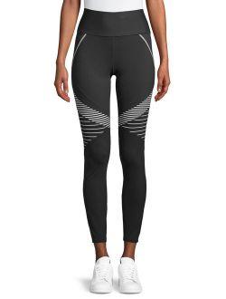 Women's Active Performance Flex Tech Bold Stripe Leggings