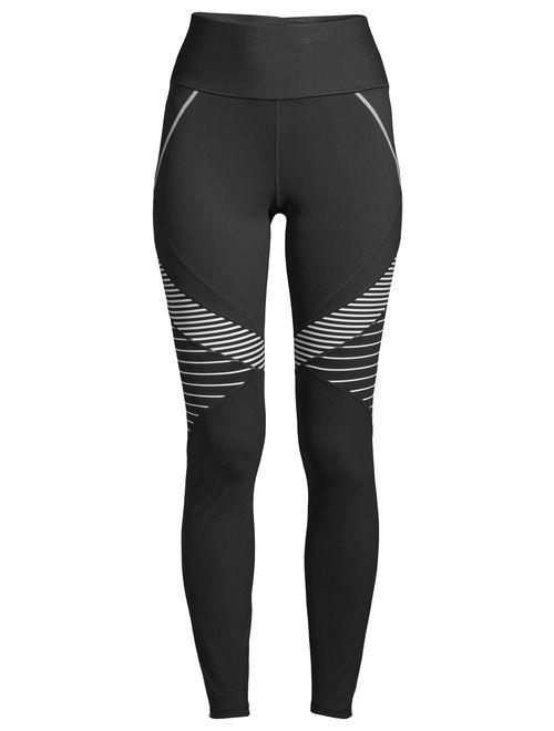 Avia Women's Active Performance Flex Tech Bold Stripe Leggings