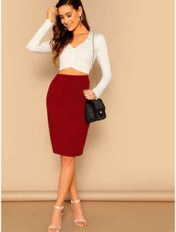 Slim Fit Pencil Skirt